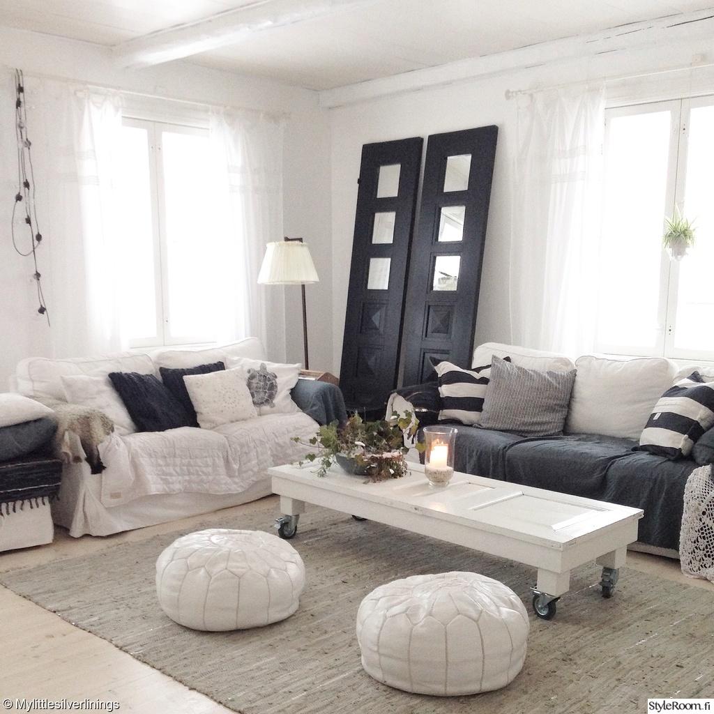 olohuone,olohuoneen sisustus,hirsitalo,antiikki,ikea ektorp,sohva,rahi,sohvap