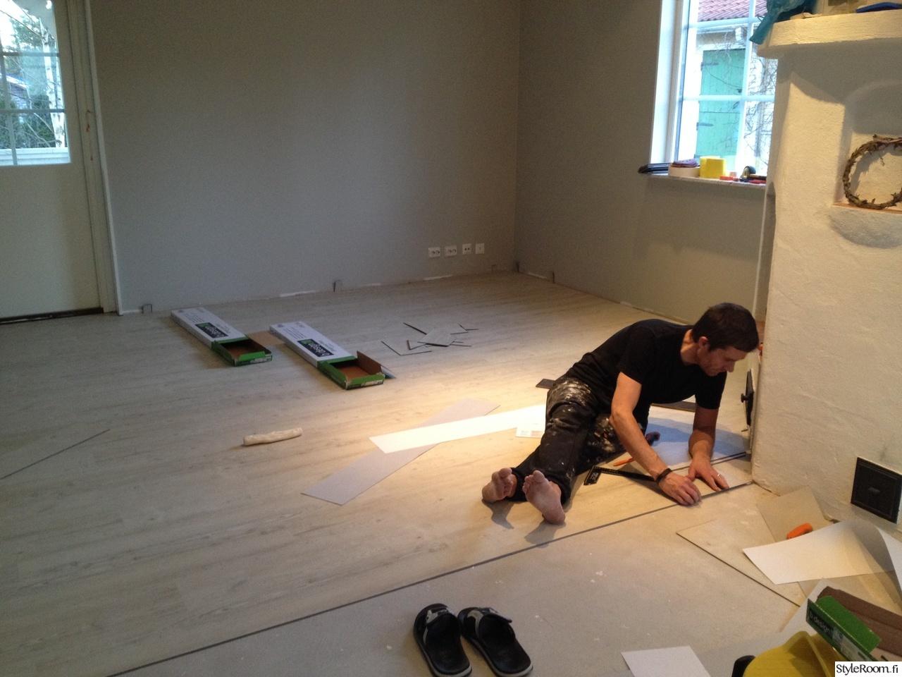 Talon remppaprojekti  kaikki pinnat uusiksi  Sisustuskuvia jäseneltä Blombm