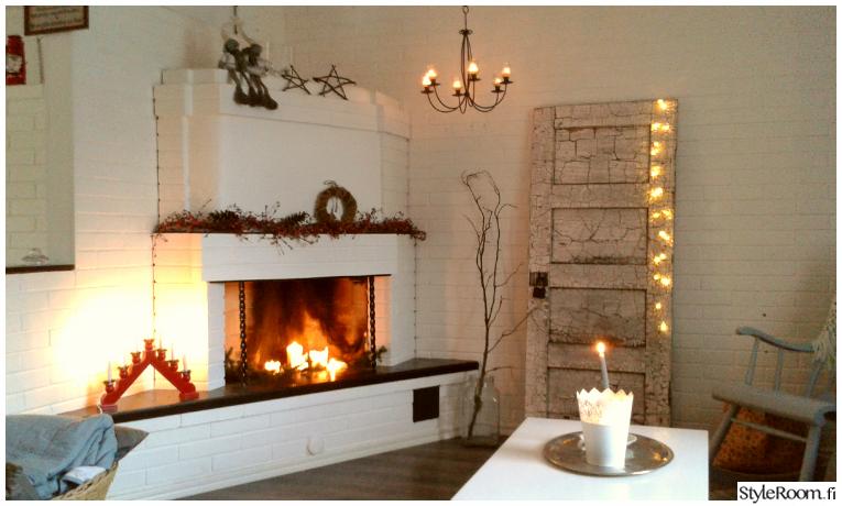 takka,olohuone,kynttilät,maalaisromanttinen,romanttinen