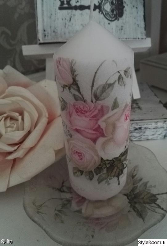 tuunaus,kynttilä,koristelu,ruusukuvio