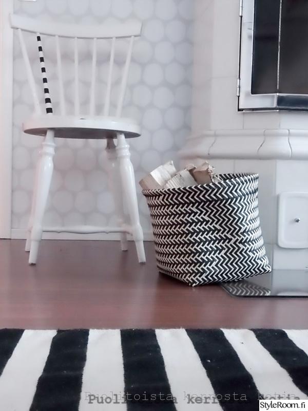 skandinaavinen,tuoli,matto,tapetti,mustavalkoinen