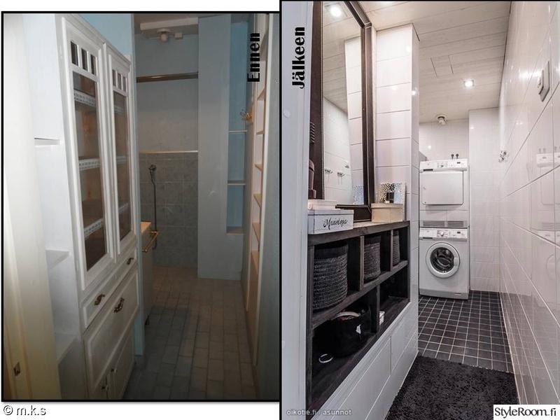 Kuva kylpyhuone  Rivitalon elämä vol 2  aika remontin jälkeen  m k s