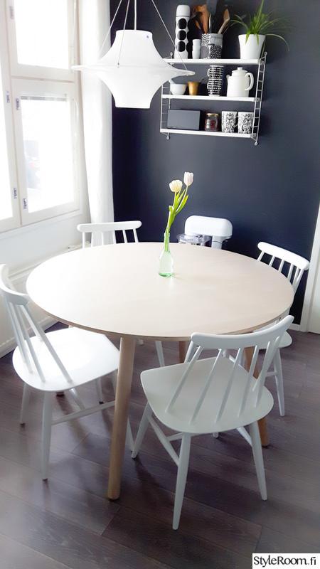 Kuva keittiö  Avokeittiön ja olohuoneen sisustusta