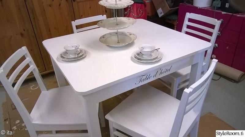 tuunaus,pöytä,tuolit,ruokailuryhmä,diy keittiö