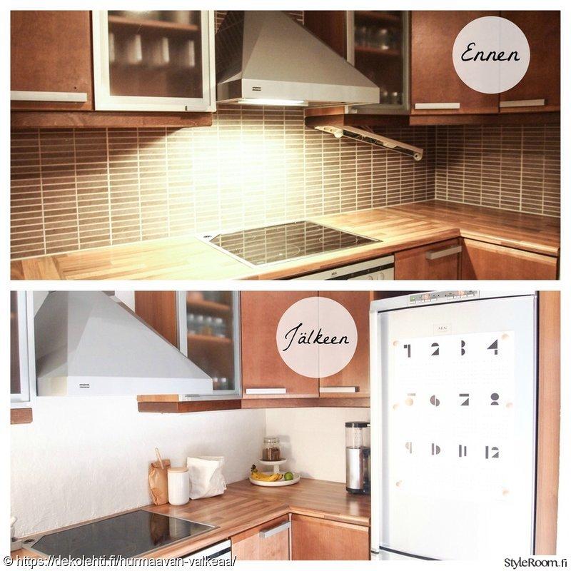 Kuva keittiö  Pienen budjetin keittiöremontti