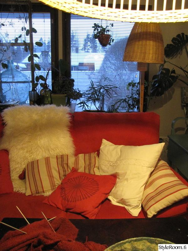 punainen,sohva,talja