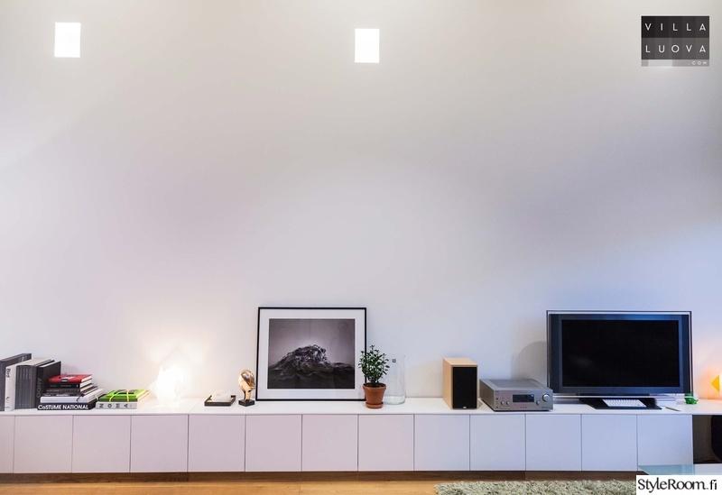 Ikea olohuone säilytys : Kuva olohuone - Ikea hack - 7m tv-taso olohuoneeseen - VillaLuova