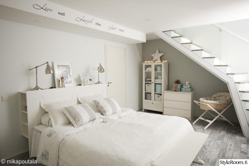 portaat,moderni,makuuhuone,sänky,vaalea