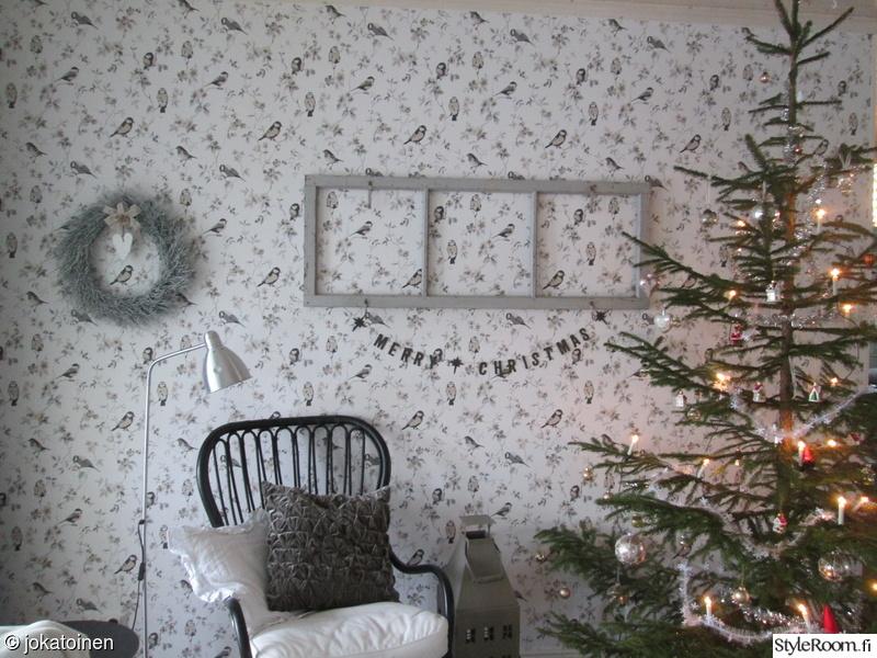 olohuone,kranssi,joulu,joulukuusi,kuusi