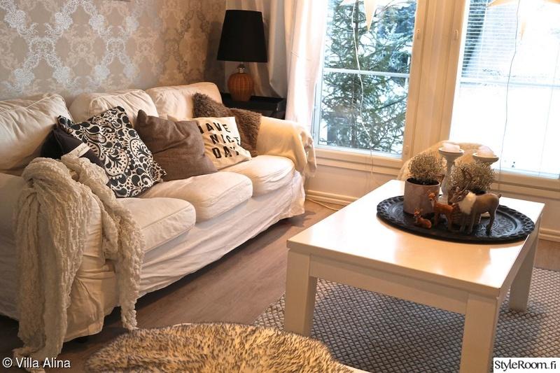 talvi,olohuone,tapetti,sohva,sohvapöytä