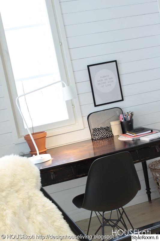 Kuva lamppu  TYÖpöytä nahkavetimillä  HOUSEkoti