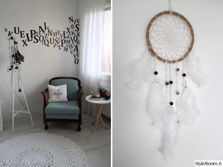 naulakko,pallovalot,nojatuoli,koristetyyny,seinätarra