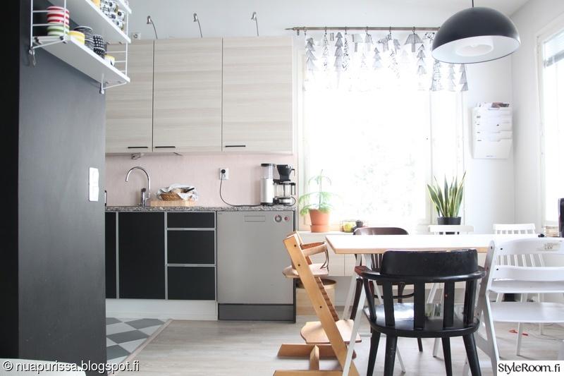 keittiö,ruokapöytä,marimekko,kirpputorilöytö,lundia