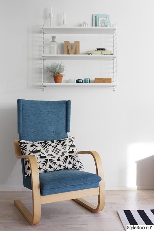 olohuone,asetelma,sininen,hylly,koriste-esineet