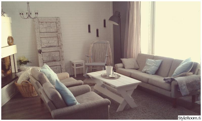 olohuone,maalaisromanttinen,romanttinen,harmaa,retro