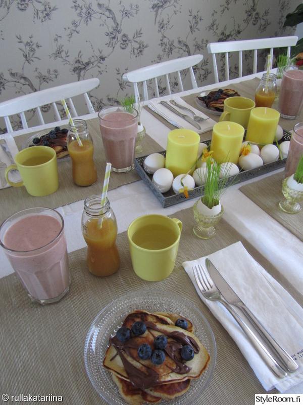 Kuva keittiö  Kattaus on puoli ruokaa  rullakatariina