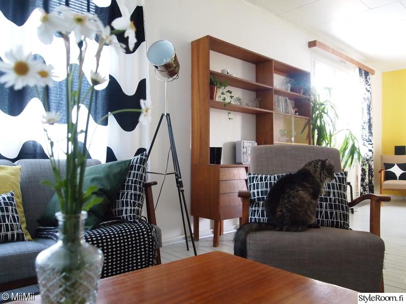 olohuone,värikäs,retro,vintage