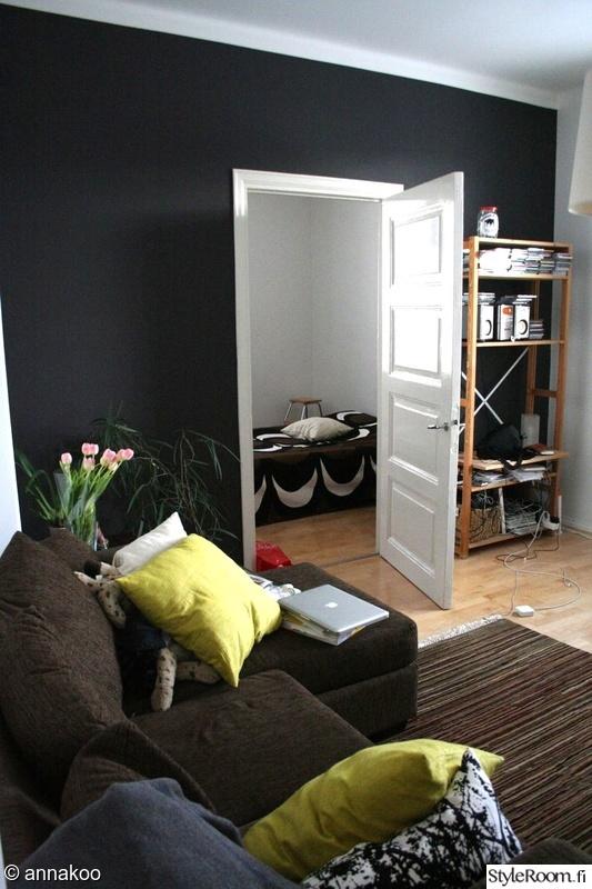 Kuva olohuone  Mustaa valkoisella  annakoo
