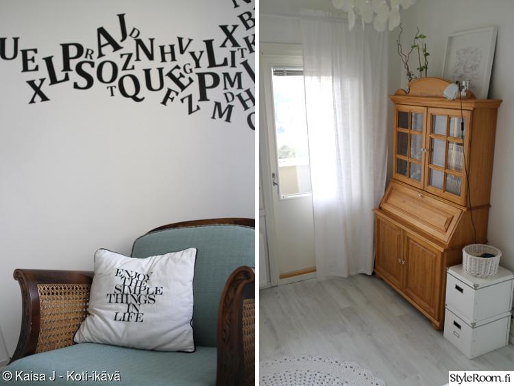 makuuhuone,säilytys,lipasto,nojatuoli,virkattu matto