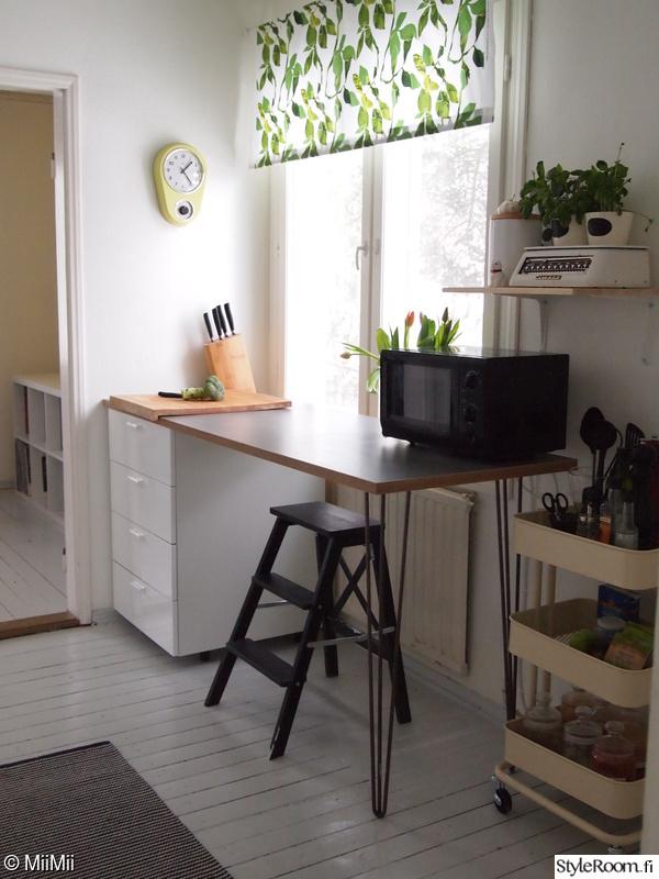 keittiö,säilytys,työtaso,diy,lautalattia
