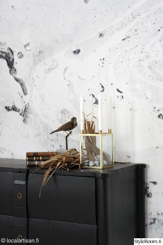 tapetti,lipasto,diy,marmori,vintage