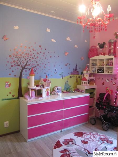 tytönhuone,pinkki,remontti,lastenhuone,lastenhuoneen sisustus