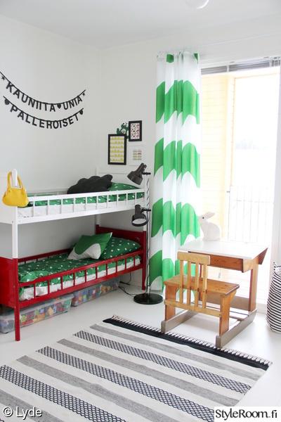 lastenhuone,värikäs,marimekko,pulpetti,kerrossänky