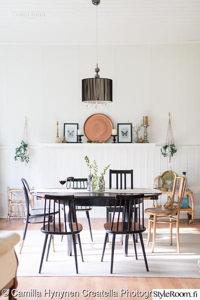 ruokasali,ruokailutila,ruokapöytä,tuolit,matto