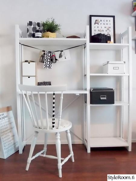 lundia,työpöytä,työpiste,teknos,maalattu