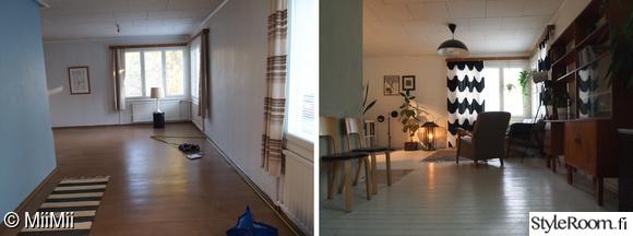 kulmaikkuna,remontti,olohuone,olohuoneen sisustus,kirjahylly