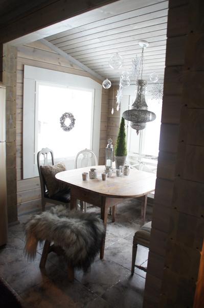 ruokapöytä,lasipallo,mökki,ruokailutilat,talja