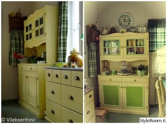astiakaappi,muovi,tuunaus,vanhat huonekalut,keltainen