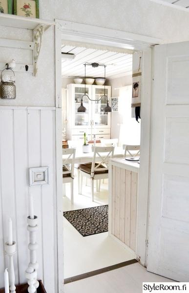 vintage,romanttinen,valkoinen,keittiö