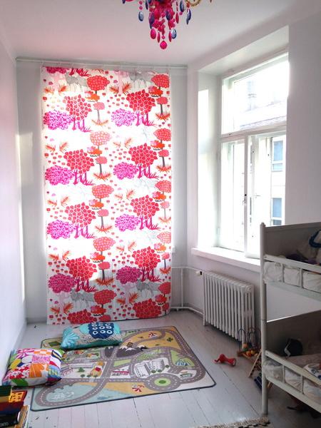 Lasten verhot lastenhuoneen tekstiilit
