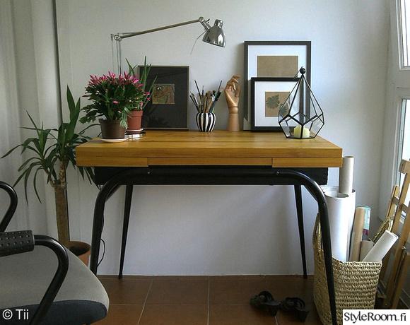 parveke,työpiste,työpöytä,diy,klaffipöytä