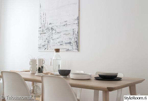 taulu,ruokapöytä,kattaus,astiat,valkoinen