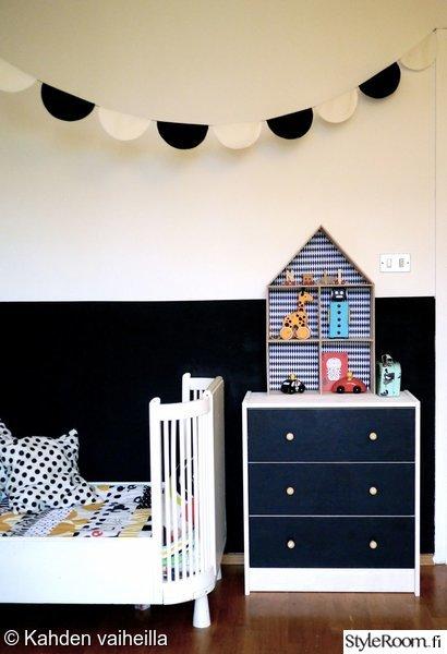 talohylly,diy,viirinauha,puolikuu,mustavalkoinen seinä