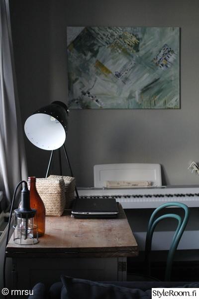 wieniläistuoli,kalkkimaali,opettajanpöytä