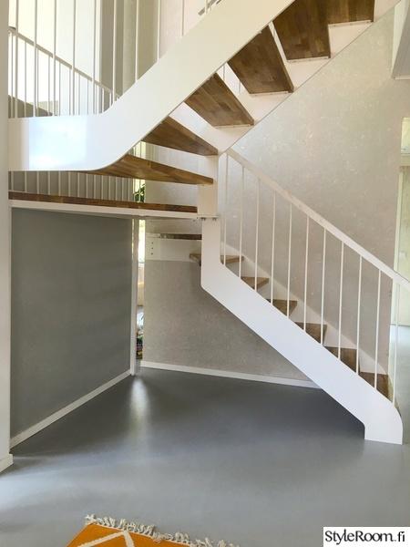 portaat,askelmat,teräs,valkoinen,tammi
