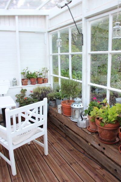 Kuva puutarha  Kasvihuone  Pikkutalossa