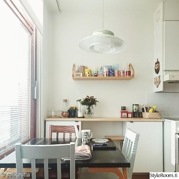 momokoti,keittiö,skandinaavinen modernismi (50-60 luku),retro valaisin,artek hylly
