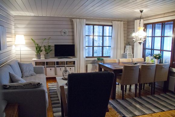 mökki,olohuone,ruokailutilat,ruokailu,moderni