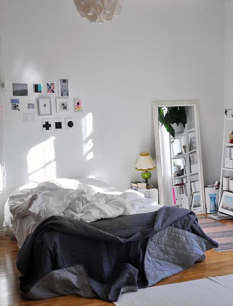 makuuhuone,peili,sänky,parivuode