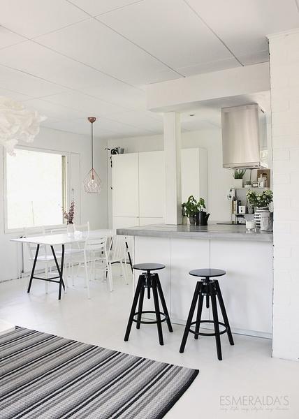 niemeke,keittiö,saareke,betonitaso,puulattia