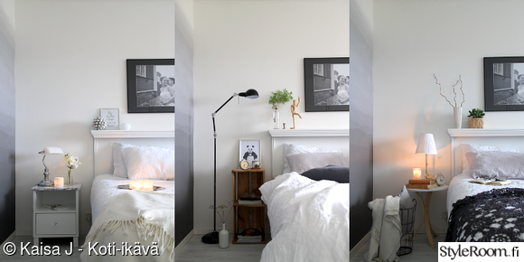 makuuhuone,stailaus,nollabudjetti,makkari,valkoinen sisustus