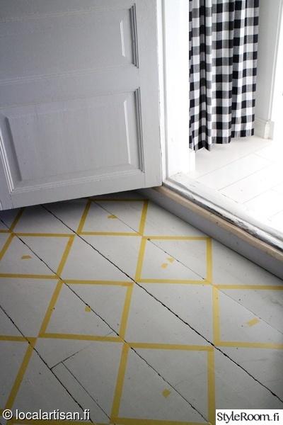 Ruudullinen lattia koti ja sisustusideat  StyleRoom