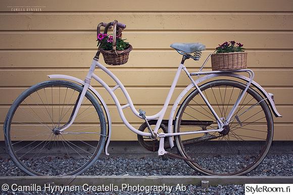 pihapyörä,vintage,pihalla,puutarhassa,pyörä