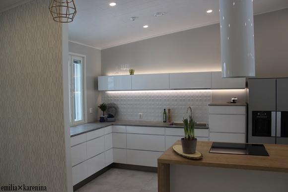 keittiö,vaalea sisustus,skandinaavinen,keittiön kaapit,kodinkone,moderni,puut