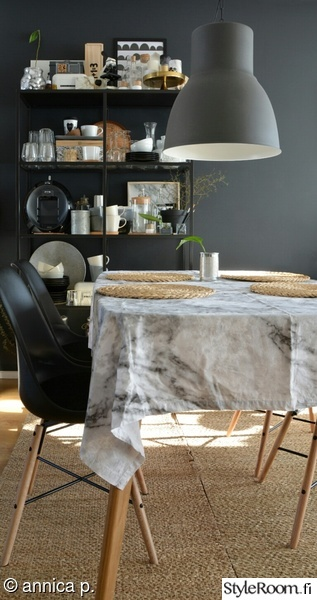ruokailutila,avohylly,ruokapöytä,pöytäliina,matto