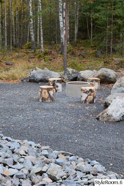 nuotiopaikka,koivupölli,istuinpölli,kaivonrengas nuotiopaikkana